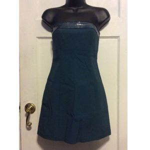 Cache Dresses - Cache Teal Strapless Stretch Dress